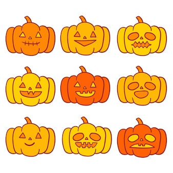 Halloweenowe banie wektorowe.