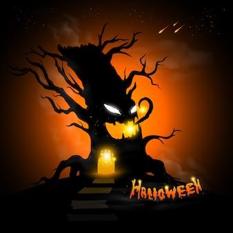 Halloweenowe drzewo