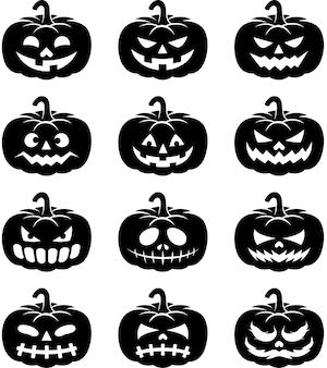 Halloweenowe ikony dyni