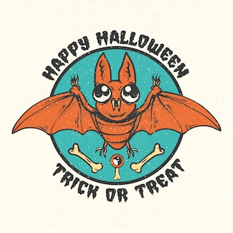 Halloweenowe odznaki, emblematy i etykiety.