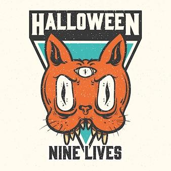 Halloweenowe odznaki i etykiety.