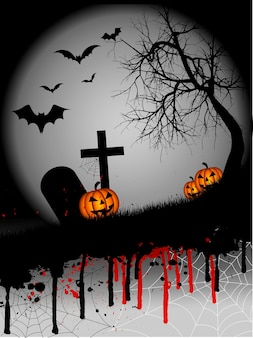 Halloweenowe tło grunge