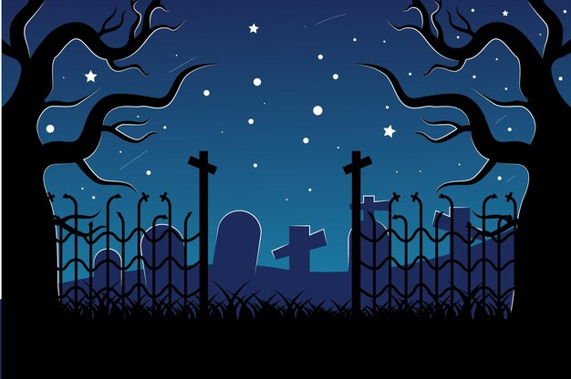 Halloweenowe tło z upiornymi elementami