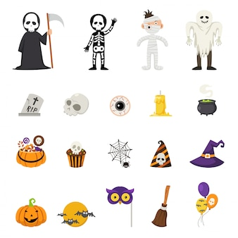 Halloweenowe wektorowe ikony