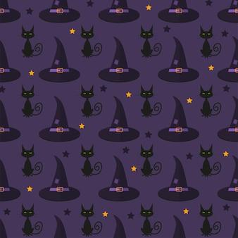 Halloweenowe wzory z symbolami świątecznymi. tło wektor może służyć do tapety, wypełnienia, strony internetowej, powierzchni, notatnik, kartka świąteczna, zaproszenia i projektowanie stron.