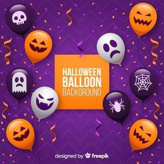 Halloweenowy balonowy tło