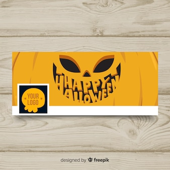 Halloweenowy baner facebook