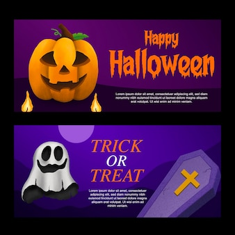 Halloweenowy baner