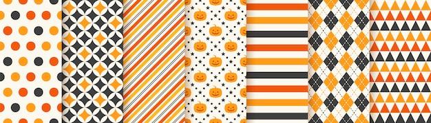 Halloweenowy bezszwowy wzór. ilustracja. geometryczny papier do pakowania.