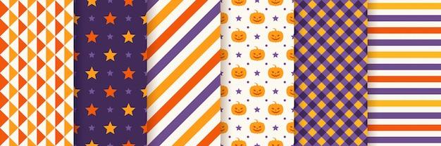 Halloweenowy bezszwowy wzór. ilustracja. geometryczny papier pakowy.