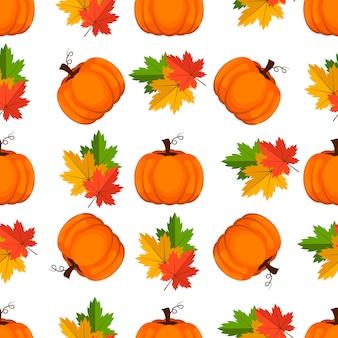 Halloweenowy bezszwowy wzór. tło z banią.