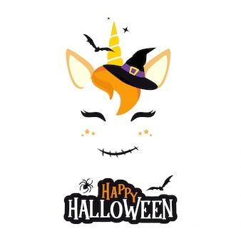 Halloweenowy charakter jednorożca.