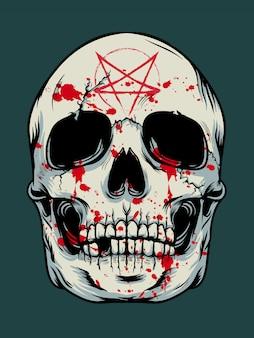 Halloweenowy czaszki tło