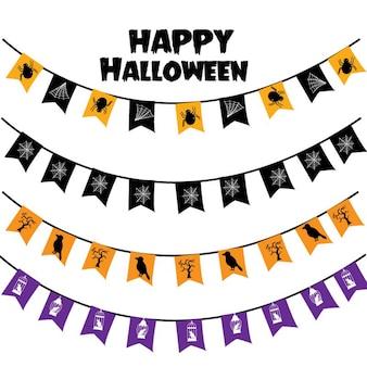 Halloweenowy dekoracja wektor