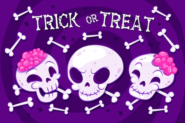 Halloweenowy dekoracyjny motyw tła