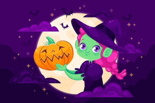 Halloweenowy dekoracyjny wzór tła