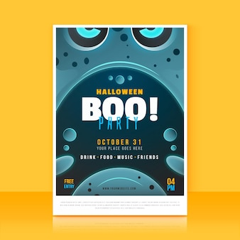 Halloweenowy festiwal party plakat