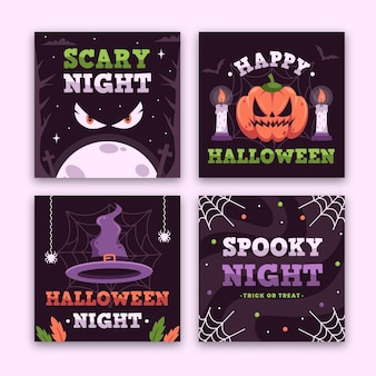 Halloweenowy festiwal posta na instagramie