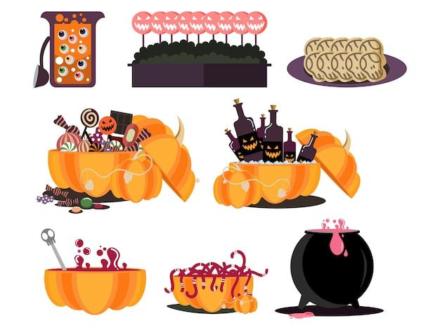 Halloweenowy jedzenie partyjny element