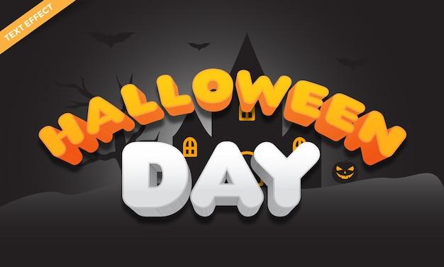 Halloweenowy kolorowy efekt tekstowy