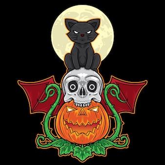 Halloweenowy kot