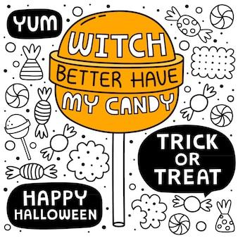 Halloweenowy kreskówki tło
