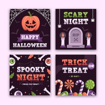 Halloweenowy motyw postu na instagramie