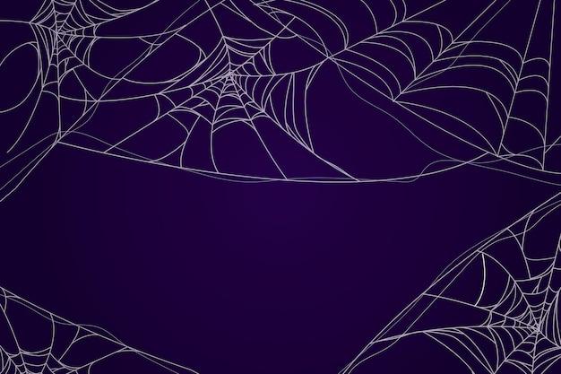 Halloweenowy motyw tapety pajęczyny