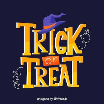 Halloweenowy napis cukierek albo psikus