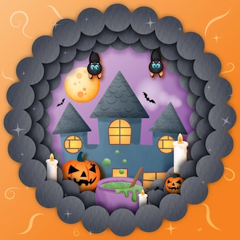 Halloweenowy nawiedzony dom