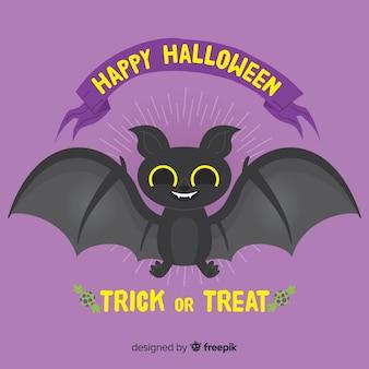 Halloweenowy nietoperza tło w ręka rysującym stylu