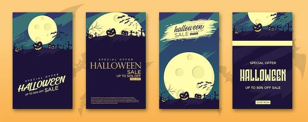 Halloweenowy pakiet sprzedaży na stojak na banery.