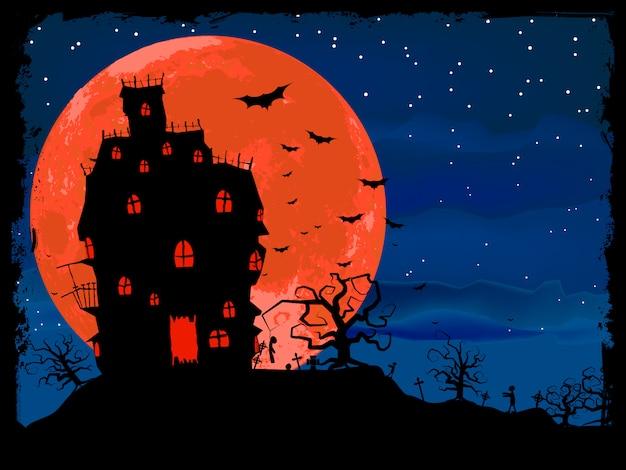 Halloweenowy plakat z zombie.
