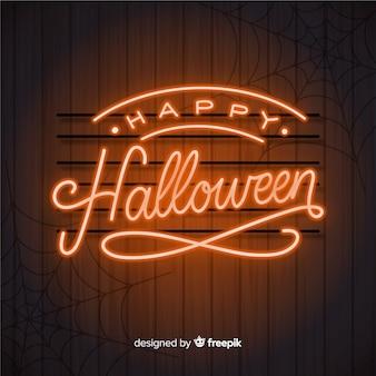 Halloweenowy pojęcie z literowania tłem