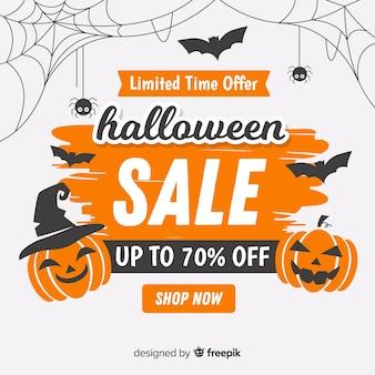 Halloweenowy sprzedaż skład z rocznika stylem