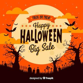 Halloweenowy sprzedaży tło