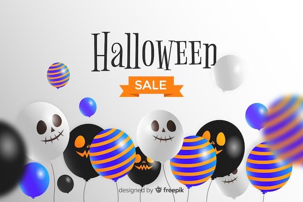 Halloweenowy sprzedaży tło z balonami