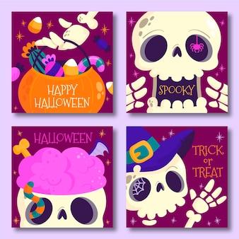 Halloweenowy styl postu na instagramie