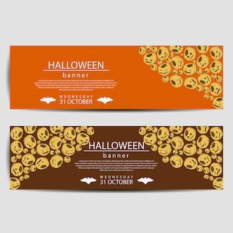 Halloweenowy sztandar