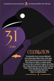 Halloweenowy tło plakat