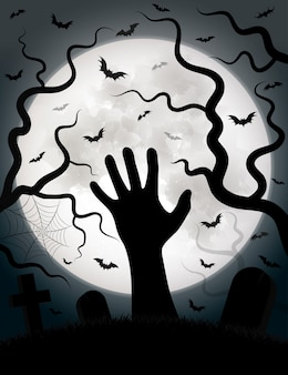 Halloweenowy tło wektor