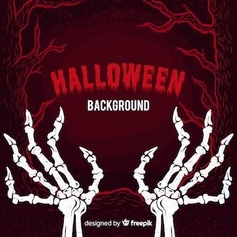 Halloweenowy tło z kościami