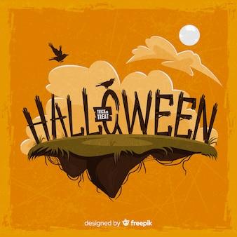 Halloweenowy tło z oryginalną typografią