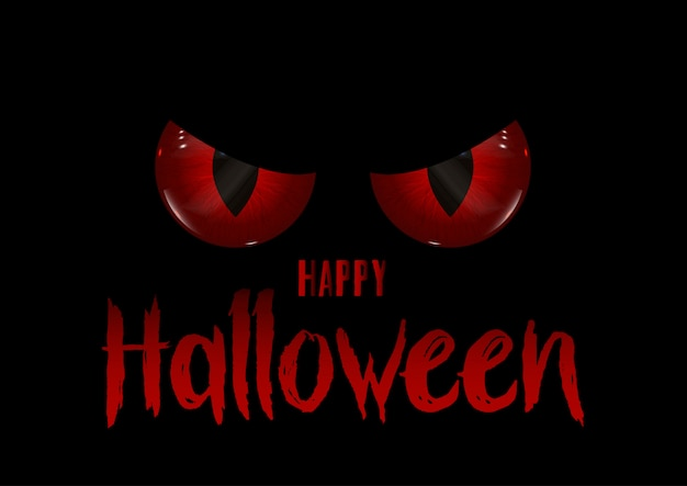 Halloweenowy tło z złymi oczami