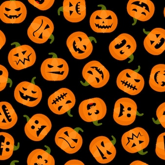 Halloweenowy uroczy bezszwowy tło
