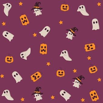 Halloweenowy wzór tła