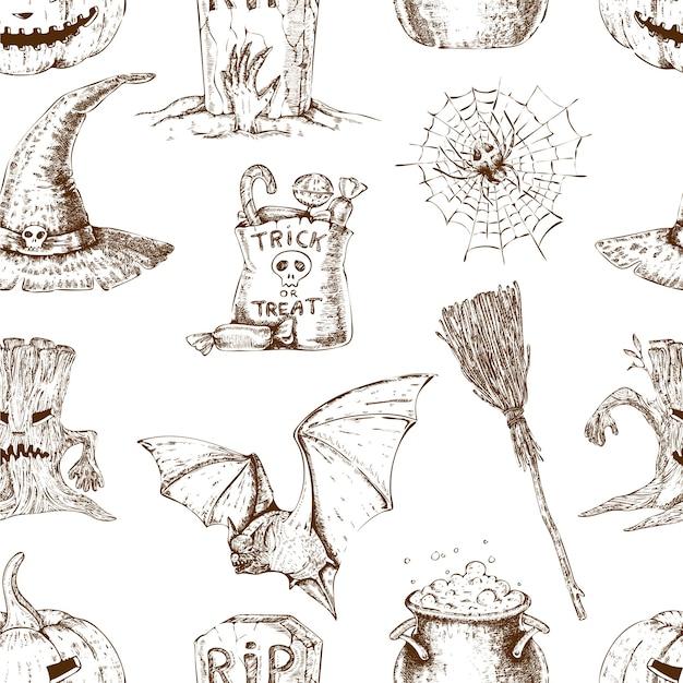 Halloweenowy Wzór Darmowych Wektorów