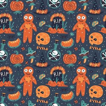 Halloweenowy wzór.