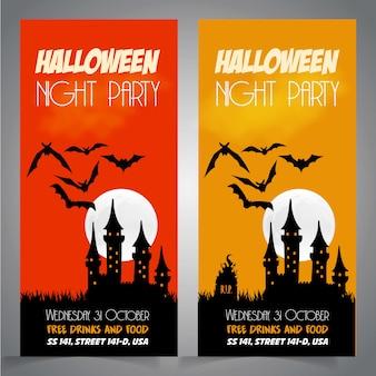 Hallowen party borchure projekt wektor