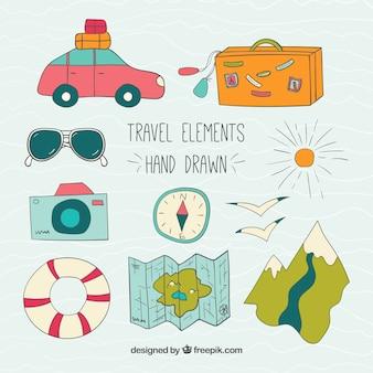 Han wyciągnąć elementy travel pack